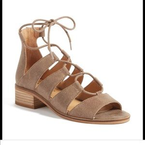 Lucky Brand Tazu Lace-Up Gladiator Sandals size 10
